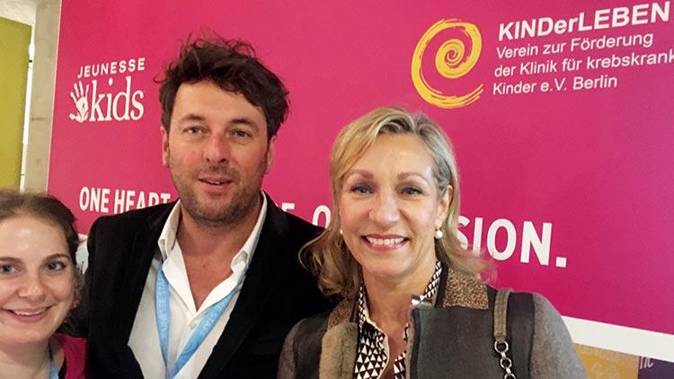 Alya, Europachef Christophe Thomann, Vorsitzende KINDerLEBEN Dr. Wegert